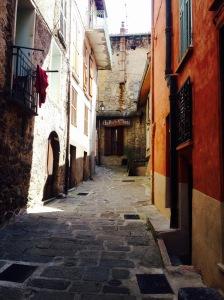 medieval street in saint martin vesubie