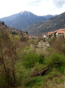 a view of the village and the mountain saint martin vesubie