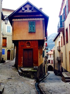 medieval streets and old building saint martin vesubie