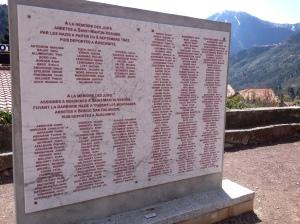 Memorial Stone in Saint Martin Vesubie