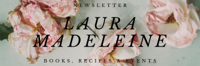 Banner for Laura Madeleine newsletter with roses